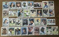 1982 CHICAGO WHITE SOX Topps COMPLETE Baseball Team SET 33 Cards FISKx3 BAINES!