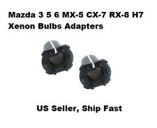 H7 HID XENON BULB ADAPTERS HOLDERS For Mazda 3 5 6 CX-7 MX-5 RX-8 Protege5