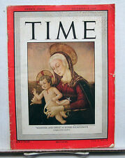 Dec 29, 1947 TIME Magazine- Madonna & Child  VG