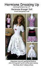 Dressing Up Doll Clothes Sewing Pattern Hermione & Nancy Drew Tonner