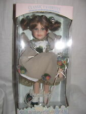 New Classic Favorites Collection Genuine Porcelain Doll Tan Dress