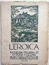 """LIBRO ANTICO LEGATURA """"L'EROICA"""" ETTORE COZZANI VOLUME 173-174 1933"""