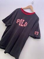 Men's Vintage Ralph Lauren Polo Logo Print Spellout Short T Shirt Tee Top Sz L