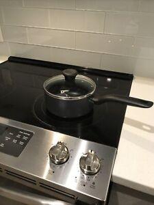 T-fal Nonstick 2 Quart Saucepan with T-fal Glass Lid