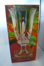 St George 24% Lead Crystal Hurricane 2 Piece Candle Holder Vase