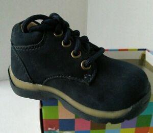NEW STRIDE RITE Kilamanjaro Navy Nubuck Shoes (Size 4 XW)