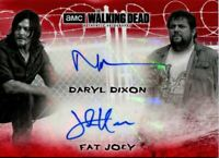 Walking Dead Hunters & Hunted Red [1/1] Dual Autograph Card DA-DJ Reedus & Hoove
