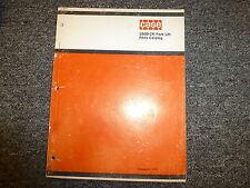 Case Model 580b Construction King Forklift Lift Truck Parts Catalog Manual Book