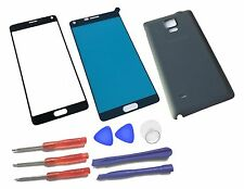 Black Outer LCD Front Screen Glass Lens Replacement for Samsung Galaxy Note 4