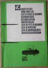 Claas WM 31 F Ersatzteilliste