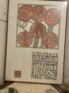 David Lance Goines poster Chez Panisse 2nd birthday party 1973 Alice Waters Rare