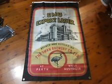 aussie beer man cave bar flag shed sign banner printed poster emu bitter lager