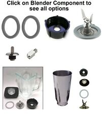 Replacement Parts for Oster Blenders,Gasket,Blade,Base,Plastic & Glass Jar,Lid