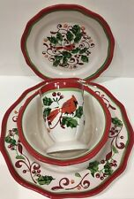 Rare Gibson Home Designs 4 Piece Place Setting Service For 1 (Aglow Pattern)