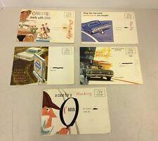 Vintage Lot of 5 Car Dealer Advertisements Frederick MD Key Chevrolet Sales