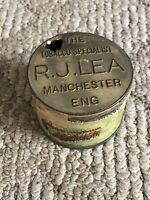 "Vintage R.J.Lea "" The Chairman"" Medium Flavor England Tobacco Tin 2 OZ. RARE!"