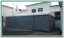Lagerhalle Lagerzelt Kleinlager Trapezblechhalle 6x9m / Schiebetor inklusive