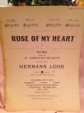 """ROSE OF MY HEART"" - Antique Piano Sheet Music- Circa 1928"