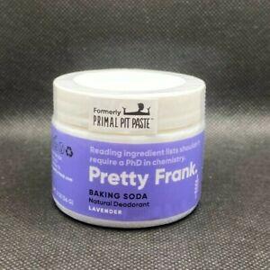 Pretty Frank Natural Deodorant Jar - Lavender Scent, Baking Soda, No Aluminum