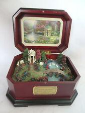 1997 Thomas Kinkade Garden of Prayer Music Box You'll Never Walk Alone