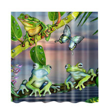 Polyester Shower Curtain with 12 Hooks Home Bathroom Decoration Frogs #1