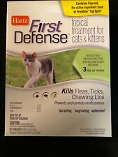 Hartz First Defense Topical Treatment for Cats, Kittens- Kills Fleas Ticks Lice