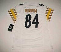 Pittsburgh Steelers Antonio Brown #84 NFL AL Nike BOYS White Gold Jersey L New