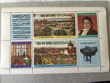 Yemen MNH Stamp Sheet Music Piano Beethoven 200th Anniversary