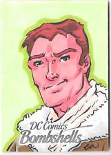 DC Bombshells Sketch Card Green Lantern Travis Walton