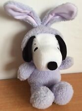 SNOOPY Plush Hallmark Peanuts Dog Purple Bunny Costume Stuffed Animal Toy
