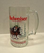 Budweiser Clydesdale Christmas Holiday Beer Glass Mug