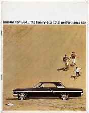 Ford Fairlane 1964 Canadian Market Sales Brochure 500 Sedan Hardtop Wagon