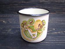 NEW Vintage Camping Mug Enamel Cup Rustic Enamelware Horse Farmhouse decor