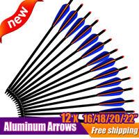 12X 16/18/20/22 Inch Archery Arrow Aluminum Crossbow Bolts Bow Hunting Shooting