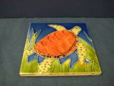 Tile Craft SEA TURTLE 4x4 Inches Decorative Ceramic Tile Colorful Tortoise
