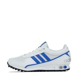 adidas Originals Men's LA Trainer II 2 Trainers Shoes White Blue