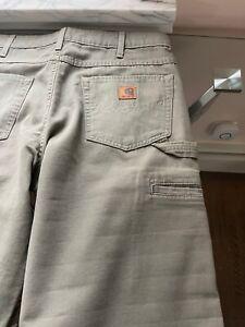 CARHARTT 33x 32 Work Pants B159 LDN  Loose Fit Carpenter-pre-owned