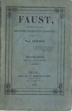 RARE EO BROCHÉ DE 1835 GÉRARD DE NERVAL + REMBRANDT : FAUST, TRAGÉDIE DE GOETHE