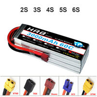 HRB 2S-6S 3000mAh 60C 120C RC LiPo Battery for FPV Drone Airplane Helicopter Car