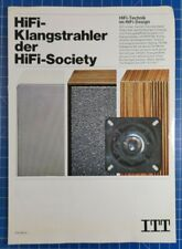 ITT Hifi Klangstrahler der HiFi Society Faltblatt H1790