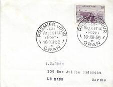 ALGÉRIE ENVELOPPE FDC 1er JOUR 1956 - YT339 - Oran : La Cathédrale
