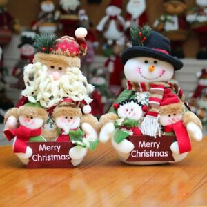 Christmas Ornaments Whole Family Doll Old man Snowman Series Decoration