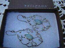 """Silpada Sterling Silver Chalcedony Cz Earrings W2459 """"Wandering Ivy"""""""