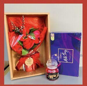 LADIES CANDLE PAMPER HAMPER GIFT BOX SET HER BIRTHDAY CHRISTMAS WIFE FRIEND MUM