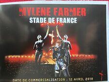 "MYLÈNE FARMER BON DE PRÉCOMMANDE ""STADE DE FRANCE 2009"" NEUF"