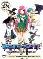 DVD Japan Anime Rosario + Vampire TV Series Season 1+2 (1-26 End) English Dubbed