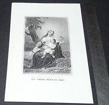CHROMO 1850-1900 IMAGE PIEUSE CATHOLICISME HOLY CARD SAINTE MERE DE DIEU VIERGE