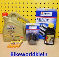 Suzuki GSX-R 1000 01-04 Original Ölfilter Luftfilter Zündkerzen Öl Castrol