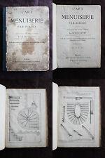L'Art de la Menuiserie 1878 ROUBO Dufournet Ed. Juliot 111 Planches