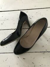 Russell Bromley Classic Patent Leather Black Court Shoes Uk 3 3,5 36.5